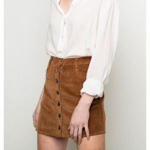 Brandy Melville Nanna button down skirt